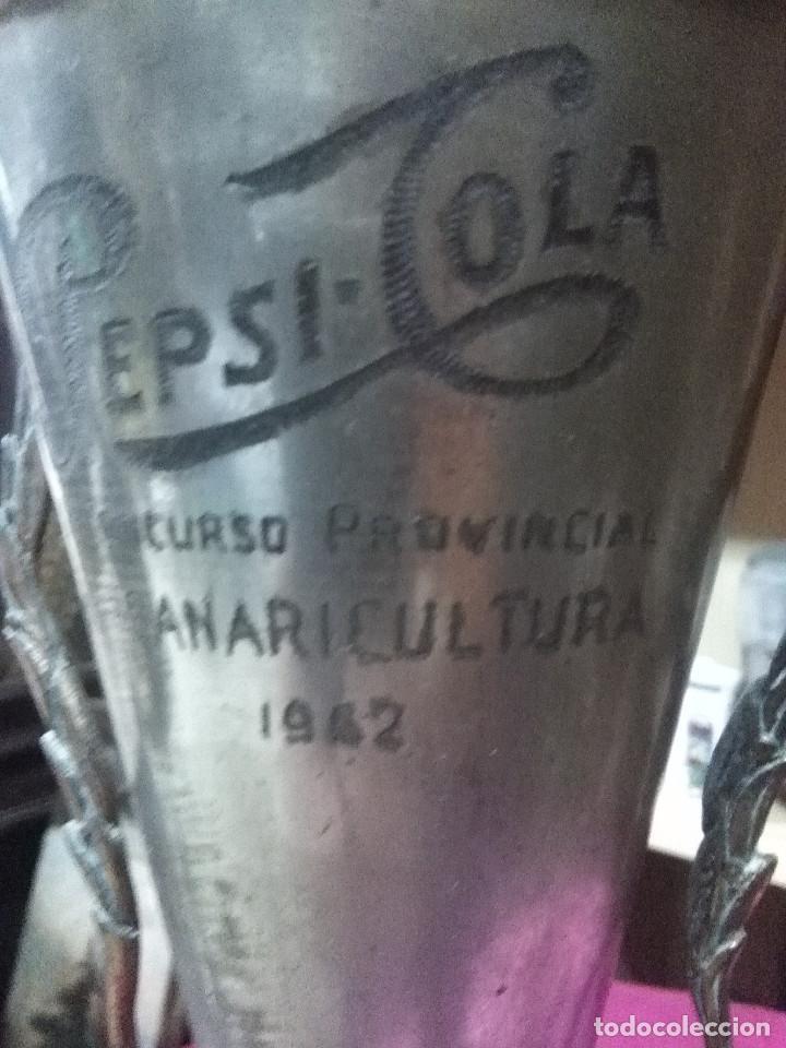 Coleccionismo deportivo: ANTIGUOS TROFEOS CANARICULTURA CÁDIZ ( 4 UNIDADES ) VER LEYENDA Y FOTOGRAFIAS - Foto 4 - 158220962