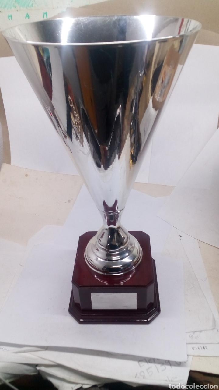 Coleccionismo deportivo: Copa Trofeo grande de Alpaca plateada nueva - Foto 2 - 158450766