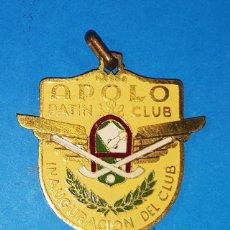 Coleccionismo deportivo: CURIOSA MEDALLA INAUGURACION DEL APOLO PATIN CLUB DE BARCELONA 15.09.1951, PATINAJE. Lote 159342554