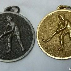 Coleccionismo deportivo: MEDALLAS HOCKEY CAMPEONATOS ESPAÑA BENICARLO AÑOS 80. Lote 159431698