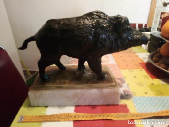 Coleccionismo deportivo: Trofeo jabali alabastro - Foto 2 - 160270610