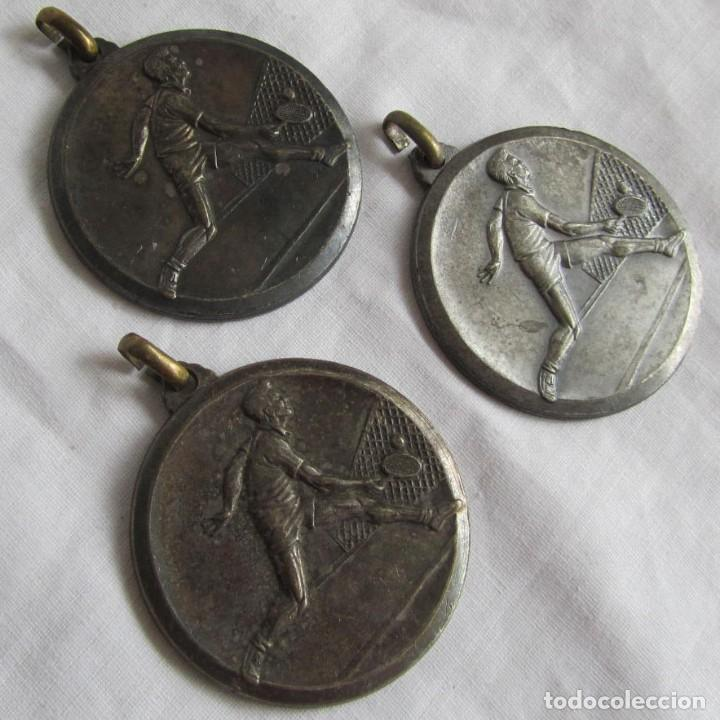 3 ANTIGUAS MEDALLAS DEPORTIVAS DE TENIS (Coleccionismo Deportivo - Medallas, Monedas y Trofeos - Otros deportes)