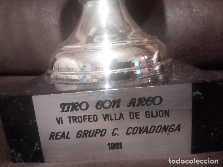 Coleccionismo deportivo: GRAN TROFEO,COPA.TIRO CON ARCO. VILLA DE GIJON.REAL GRUPO COVADONGA.1991. - Foto 2 - 162978826