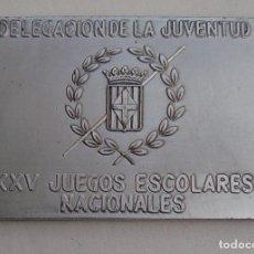 Coleccionismo deportivo: XXV JUEGOS NACIONALES ESCOLARES. MEDALLA. Lote 165131314