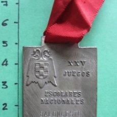 Coleccionismo deportivo: MEDALLA XXV JUEGOS ESCOLARES NACIONALES BARCELONA 1973 DELEGACION DE JUVENTUD OJE. Lote 167955232