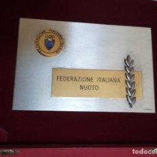 Coleccionismo deportivo: PLACA FEDERACIÓN ITALIANA DE NATACIÓN . Lote 167962816