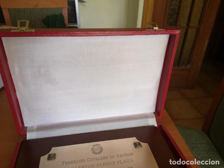PLACA FEDERACIÓN CATALANA DE NATACIÓN (Coleccionismo Deportivo - Medallas, Monedas y Trofeos - Otros deportes)