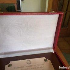 Coleccionismo deportivo: PLACA FEDERACIÓN CATALANA DE NATACIÓN. Lote 167965024