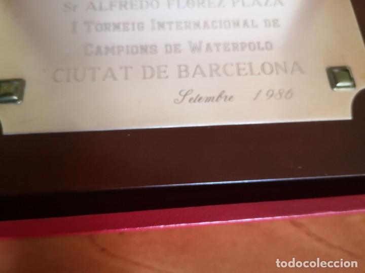 Coleccionismo deportivo: Placa federación Catalana de Natación - Foto 2 - 167965024
