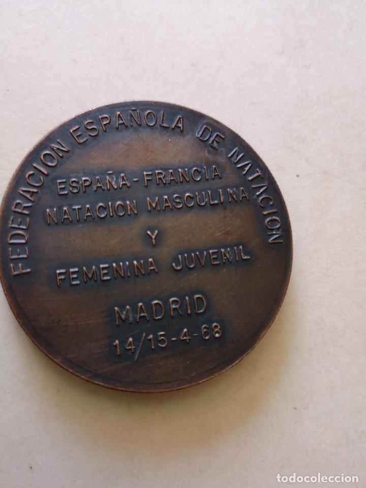 Coleccionismo deportivo: Medalla F. E. N España Francia 1968 - Foto 2 - 168462452