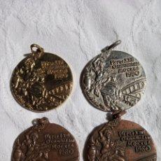 Collectionnisme sportif: MEDALLAS JUEGOS OLIMPICOS MOSCÚ 1980. LOTE COMPLETO.OLIMPIADAS.DEPORTE.OLIMPICO.BARCELONA.. Lote 173494770