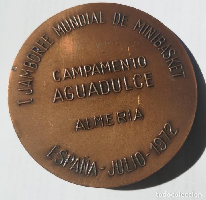 MEDALLA 1RER JAMBOREE MUNDIAL DE BASKET 1972 ALMERÍA (Coleccionismo Deportivo - Medallas, Monedas y Trofeos - Otros deportes)