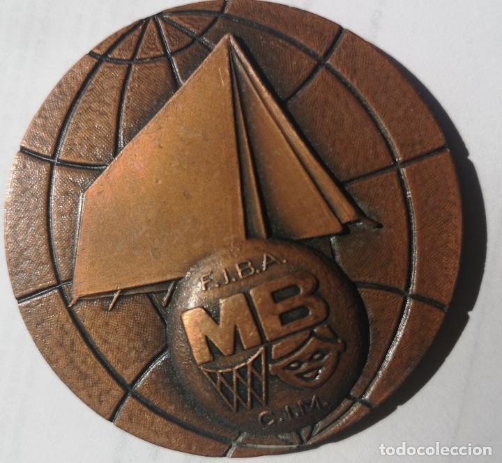 Coleccionismo deportivo: Medalla 1rer jamboree mundial de basket 1972 Almería - Foto 2 - 175904670