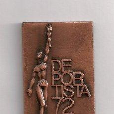 Coleccionismo deportivo: DEPORTISTA 72 PLACA. Lote 176788755