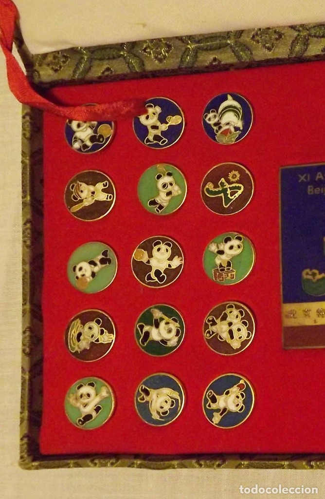 Coleccionismo deportivo: Pins de Beijing 1990 Asian Olympic Games 24K - Foto 2 - 178709526