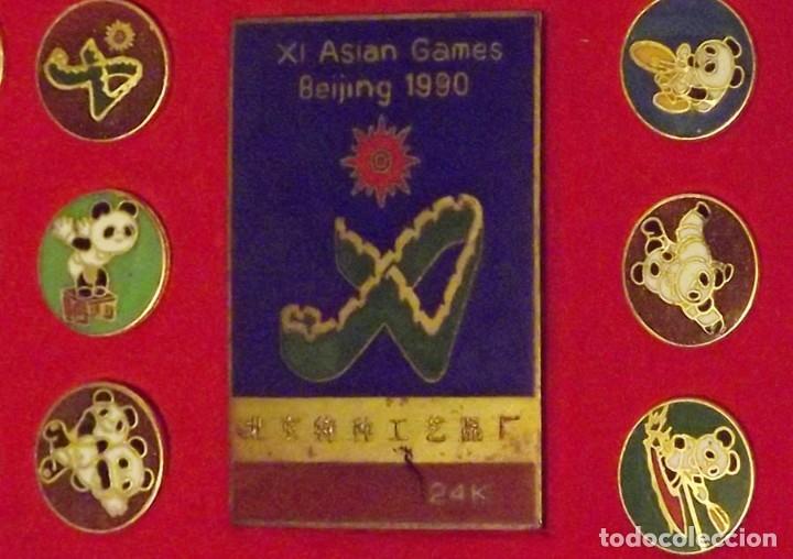 Coleccionismo deportivo: Pins de Beijing 1990 Asian Olympic Games 24K - Foto 3 - 178709526