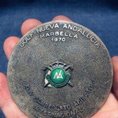Coleccionismo deportivo: ANTIGUO TROFEO MEDALLON GOLF NUEVA ANDALUCIA MARBELLA 1970 XLIV CAMPEONATO ABIERTO. Lote 179224021