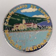 Coleccionismo deportivo: PLACA / MEDALLA ANTIGUA CAMPEONATO DE ESPAÑA BAÑOLAS GERONA AÑO 1947. Lote 179246225