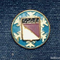 Coleccionismo deportivo: CHAPA ESMALTADA MITAD SXX FEDERACION CASTELLANA DE ESQUI FCDE 18MM. Lote 179815365