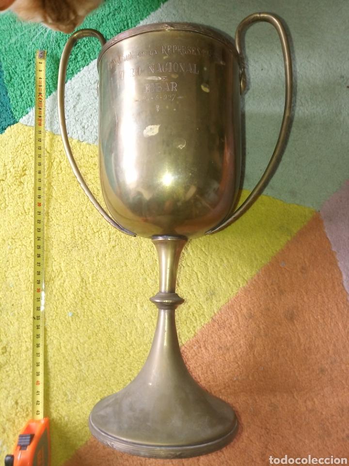 TROFEO. TIRO NACIONAL DE EIBAR, AÑO 1927 (Coleccionismo Deportivo - Medallas, Monedas y Trofeos - Otros deportes)