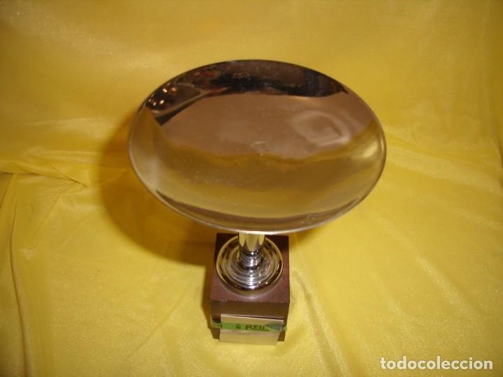 Coleccionismo deportivo: Trofeo acero inoxidable 18/8 de Reinox, años 80, pie de plastico, Nuevo sin usar. - Foto 7 - 182962038