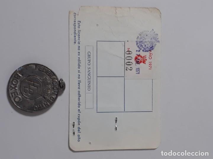 Coleccionismo deportivo: LOTE DE MEDALLA CON CARNET DE BOXEADOR - Foto 2 - 183466738