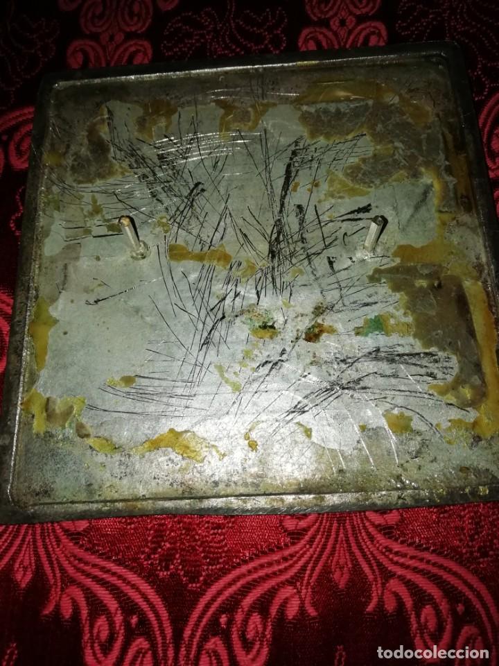 Coleccionismo deportivo: Antiguo bronce trofeo tiro al plato muy pesado 13x13 cm - Foto 5 - 183471063