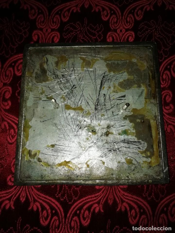 Coleccionismo deportivo: Antiguo bronce trofeo tiro al plato muy pesado 13x13 cm - Foto 6 - 183471063
