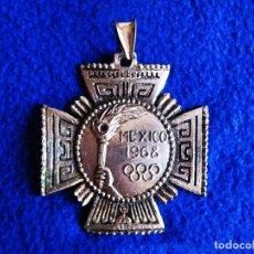 Coleccionismo deportivo: ANTIGUA MEDALLA METÁLICA (VERSIÓN PLATA) OLIMPIADAS DE MÉXICO DE 1968. . Lote 183541957