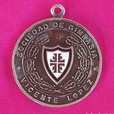 Coleccionismo deportivo: MEDALLA BRONCE SOCIEDAD DE GIMNASIA VICENTE LOPEZ MEDALLA DE BRONCCE DE LOS CAMPEONATOS NACIONALES D. Lote 185937532