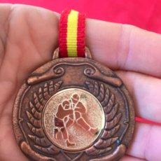 Coleccionismo deportivo: ANTIGUA MEDALLA JUDO ARTES MARCIALES BRONCE LAUREL INTERCLUB CINTA DE ESPAÑA. Lote 186152971