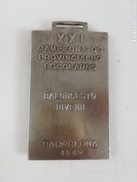 Coleccionismo deportivo: Medalla Delegación de Juventudes Barcelona 1969 - Baloncesto Juvenil - Frente de Juventudes Falange - Foto 6 - 189296778