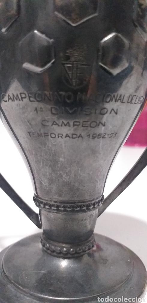 TROFEO PLATA CAMPEONATO NACIONAL DE LIGA 1ªDIVISION TEMPORADA 1952-53 (Coleccionismo Deportivo - Medallas, Monedas y Trofeos - Otros deportes)