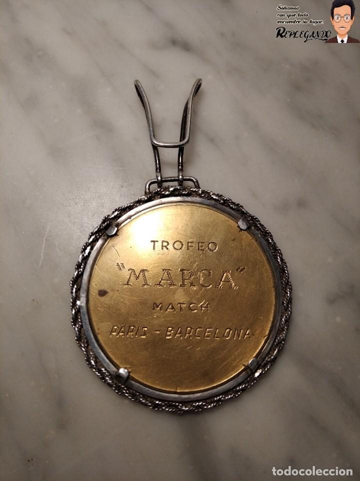 Coleccionismo deportivo: RARA MEDALLA AÑO 1953 - TORNEO MARCA - MATCH PARÍS / BARCELONA (ESCUDO ESPAÑA - ARAGÓN Y CATALUÑA) - Foto 5 - 194330510