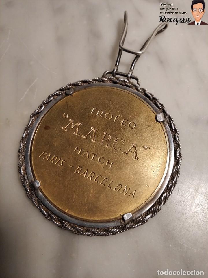 Coleccionismo deportivo: RARA MEDALLA AÑO 1953 - TORNEO MARCA - MATCH PARÍS / BARCELONA (ESCUDO ESPAÑA - ARAGÓN Y CATALUÑA) - Foto 6 - 194330510