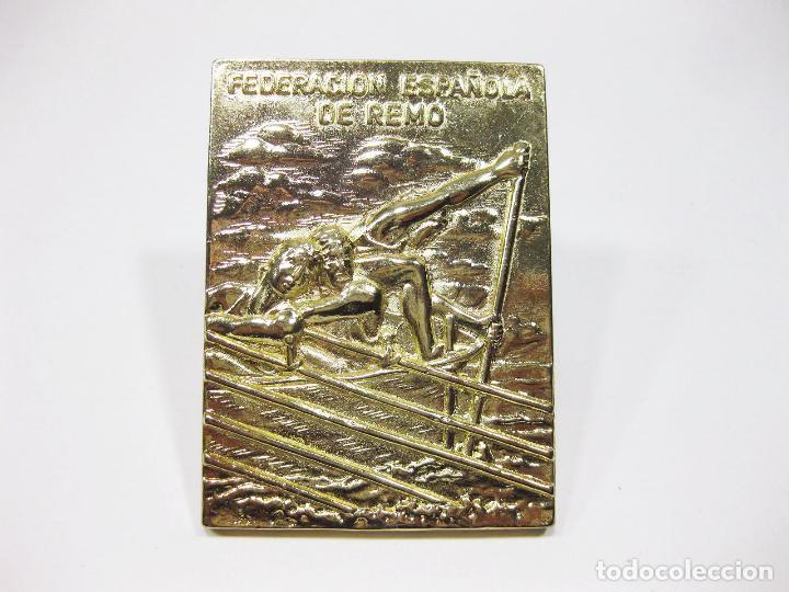 PLACA, TROFEO O MEDALLA DE LA FEDERACIÓN ESPAÑOLA DE REMO DEL CAMPEONATO DE ESPAÑA - SANTANDER 2006 (Coleccionismo Deportivo - Medallas, Monedas y Trofeos - Otros deportes)