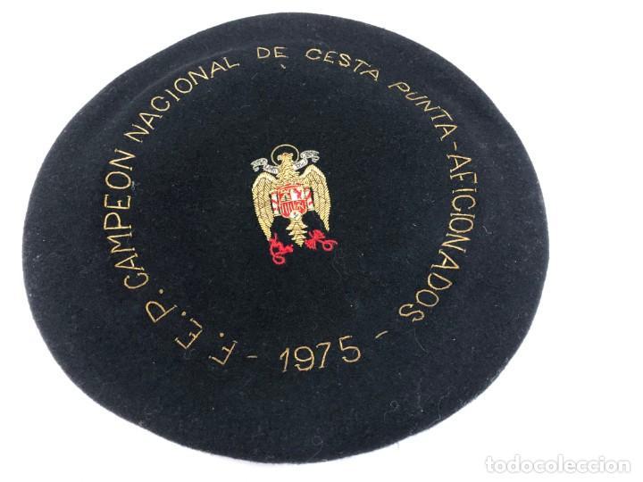 ANTIGUA TXAPELA CHAPELA CAMPEONATO DE CESTA PUNTA JAI ALAI 1975 FEDERACION ESPAÑOL PELOTA VASCA (Coleccionismo Deportivo - Medallas, Monedas y Trofeos - Otros deportes)