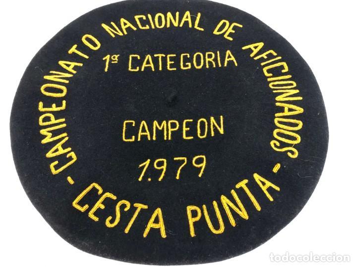 ANTIGUA TXAPELA CHAPELA CAMPEONATO CESTA PUNTA JAI ALAI 1ª CATEGORIA CAMPEON 1979 (Coleccionismo Deportivo - Medallas, Monedas y Trofeos - Otros deportes)