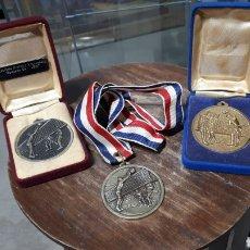 Coleccionismo deportivo: LOTE MEDALLAS AÑOS 80 VOLLEYBAL FASE ASCENSO. Lote 195135081