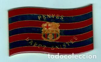 PLACA DE PENYES DEL BARCELONISTES LACADA DE LOS AÑOS 1950 (Coleccionismo Deportivo - Medallas, Monedas y Trofeos - Otros deportes)