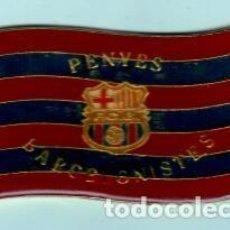 Coleccionismo deportivo: PLACA DE PENYES DEL BARCELONISTES LACADA DE LOS AÑOS 1950. Lote 195192567