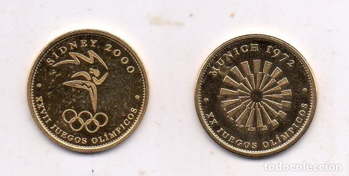 Coleccionismo deportivo: Lote de 2 medallas conmemorativas de los Juegos Olímpicos. - Foto 2 - 195275151