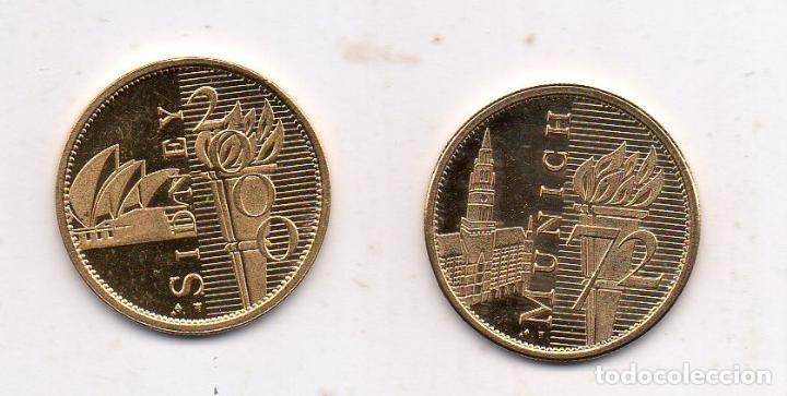 LOTE DE 2 MEDALLAS CONMEMORATIVAS DE LOS JUEGOS OLÍMPICOS. (Coleccionismo Deportivo - Medallas, Monedas y Trofeos - Otros deportes)