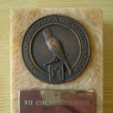 Coleccionismo deportivo: TROFEO VII CONCURSO ORNITOLOGICO SOLLER 1980 (PALMA DE MALLORCA) - AGRUPACION ORNITOLOGICA COMARCAL . Lote 195469305