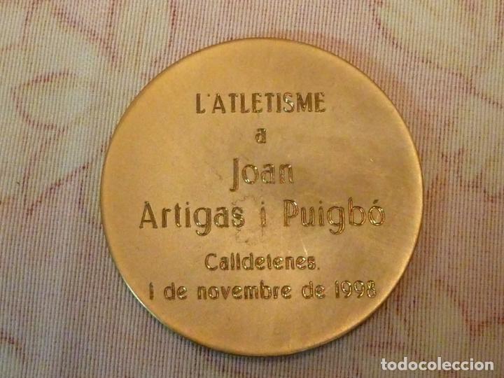 Coleccionismo deportivo: MEDALLA CENTENARI DE L'ATLETISME A CATALUNYA 1898-1998 - Foto 2 - 198389047