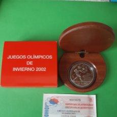 Coleccionismo deportivo: ESPAÑA 2002 JUEGOS OLIMPICOS INVIERNO 8 REALES PROOF PLATA CERTIFICADO 10 EUROS. Lote 198423448