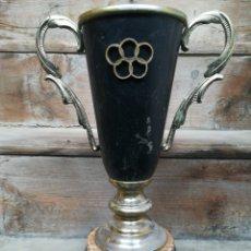 Coleccionismo deportivo: COPA TROFEO DE TIRO AL PLATO AROS JUEGOS OLÍMPICOS. BODEGAS PEÑASCAL. 1986 CÁLIZ PICHÓN. Lote 199938917