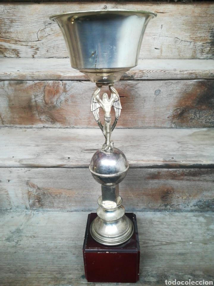COPA TROFEO DE TIRO AL PLATO 1980 ABAY (HUESCA) CÁLIZ PICHÓN (Coleccionismo Deportivo - Medallas, Monedas y Trofeos - Otros deportes)