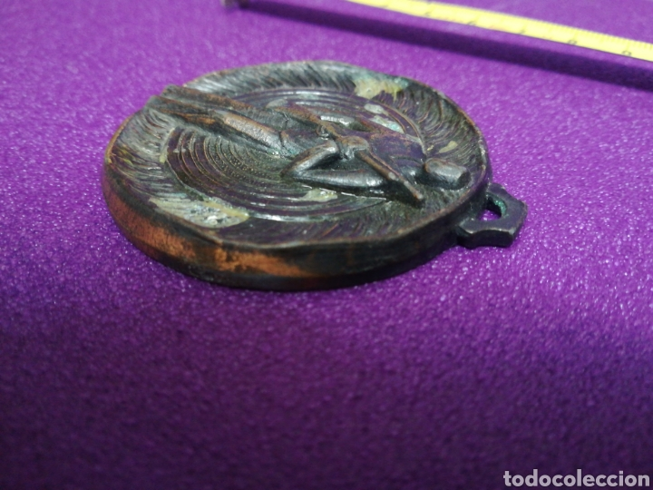 Coleccionismo deportivo: Antigua medalla de tiro al plato o pichón - Foto 3 - 199943851