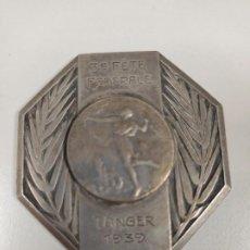 Coleccionismo deportivo: ANTIGUA MEDALLA DE DEPORTE DE TERCER PUESTO EN TANGER AÑO 1939, 5 CM, EPOCA FRANCESA. Lote 245015855